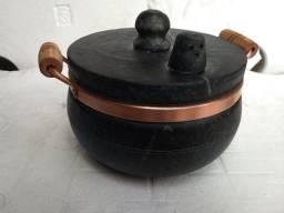 Panela de pressão 5 litros com cabo de madeira