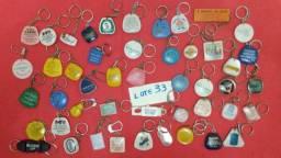 Lote 33 de chaveiros antigos mistos