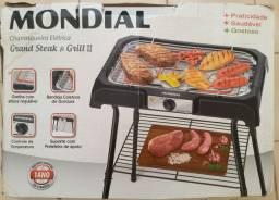 Churrasqueira Elétrica Mondial Grande Steak & Grill II - Nunca Uasada.