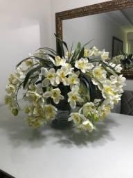 Vaso de orquídea mesa de 8 lugares 0,80x0,80