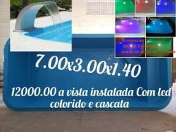 Piscina 7.00x3.00x1.40 luxo