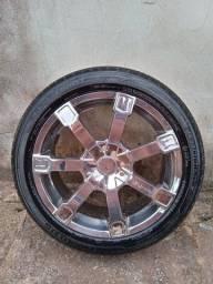 Vendo ou troco rodas cromada 205/50/17.