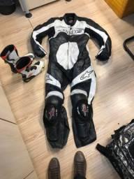 Kit macacão e bota moto GP