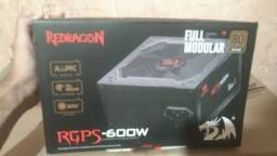 Fonte gamer Redragon rgps 600w Full modular