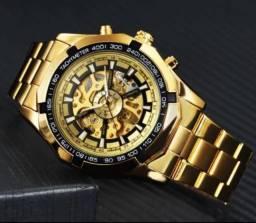 Relógio Winner Skeleton Mecânico Automático