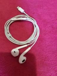 Fone EarPods com conector Lightning  original comprar usado  Nova Iguaçu