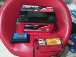 Bateria +  kit para energia solar ou eólica, usado comprar usado  Jandira