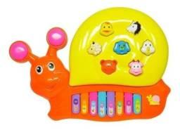 Piano Infantil Teclado Para Bebe E Criança Com Som Dos Bichos