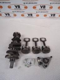 Kit Motor March 1.0 3c (Pistão C/ Biela - Virabrequim - Bomba Óleo - Bronzinas)