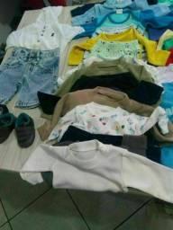 80 peças de roupa p bebê até 5 meses