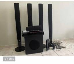 Home theater lg 5.1 sistema sem fio para caixas traseiras