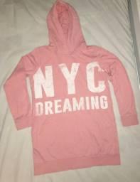 """Casaco rosa bebê """"NYC"""""""