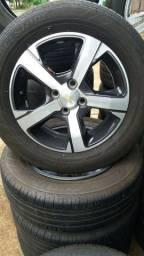 Jg roda do onix ltz aro 15 com pneus semi novos
