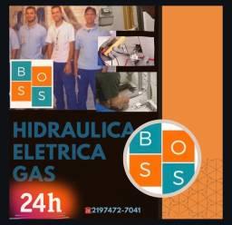 Instalação de tubulação água quente/fria/esgoto/gás