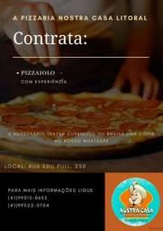 Contrata-se pizzaiolo para litoral