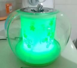 Caixinha de som LED iluminação