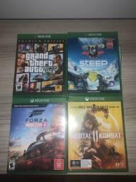 Jogos Xbox one GTA V, mortal kombat XI
