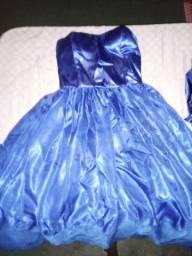 Vestido de festa de 15 anos azul