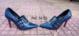 Revenda sapatos feminino e masculino sofisticados e diferenciados de couro legítimo