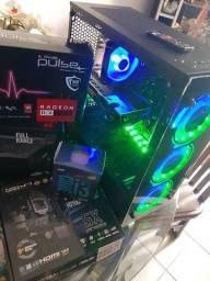 Cpu Gamer Ultra / i3-9100F 3.6Ghz +16Gb DDR4 Ssd 512Gb HD 1TB Placa de vídeo RX580 8Gb