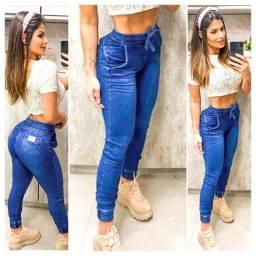 Jeans disponíveis com lycra