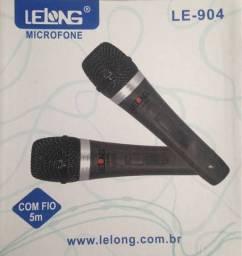 COD: 0434 Microfones Profissional Lelong C/ Fio 5m Le904 (Entrega gratis)
