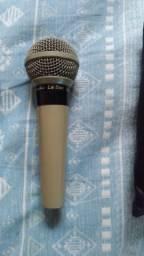 Microfone Profissional Com Fio Cardioide Sm58 Leson