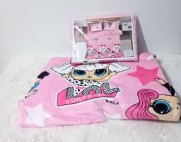 Kit (manta + jogo de lençol)
