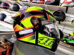 Capacete AGV K1 Soleluna 2015 Valentino Rossi em 10x sem juros