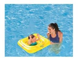 Boia Quadrada Swim Safe Amarelo Abc 69x69 Cm - Passo A