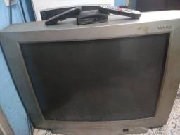 Tv de tubo 29 pl e conversor digital