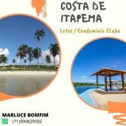 Costa de Itapema, lotes ,entrada de 10% em Saubara - Santo Amaro