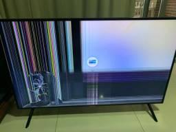 Tv Smart Samsung 4k 49 tela quebrada