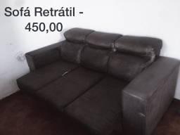 Sofá retrátil grande