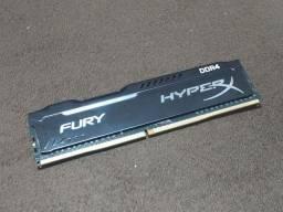 Pente de memória RAM Hyperx Fury 8gb DDR4 2400mhz
