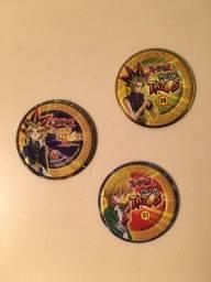 Título do anúncio: Tazo Titanium Yu-Gi-Oh! - 3 unidades diferentes