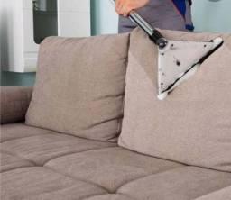 Limpeza e higienização de sofá, colchão, tapetes e outros