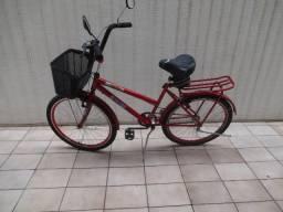 Bicicleta aro 26 cor cereja