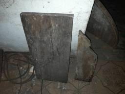 2 tocos de madeira maciça - Peroba