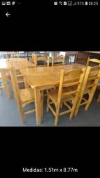Mesa de cozinha 6 cadeiras novo promoção hoje