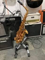 Suporte descanso de chão para sax e flauta