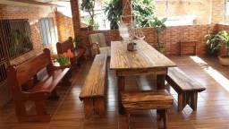 Mesa para 14 Pessoas de madeira maciça