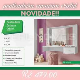 PENTEADEIRA CAMARIM CRISTAL / PENTEADEIRA CAMARIM CRISTAL SUSPENSA