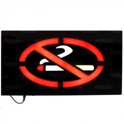 Painel de Led Proibido Fumar com Efeito Neon Bivolt