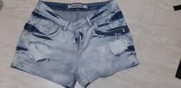 Shorts jeans feminino Eventual tamanho 40 - R$ 30,00
