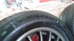Rodas Aro 14 Furação 4x100 com pneu Michelin 185/65