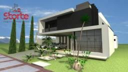 Casa estilo sobrado alto padrão em cond. fechado com 4 suítes à venda, 514m² por R$ 3.550.
