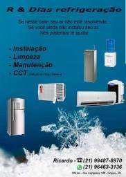 Ar condicionado, Geladerias, freezer e máquinas de lavar