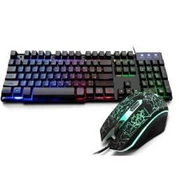 Título do anúncio: Entrega Grátis - Combo Kit Gamer 2 em 1 Teclado Mouse K13