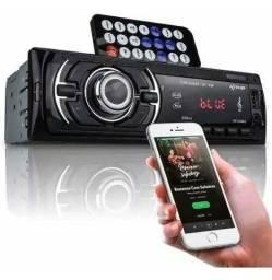 Auto Rádio Som Automotivo Carro Usb Pendrive Bluetooth 4x60w